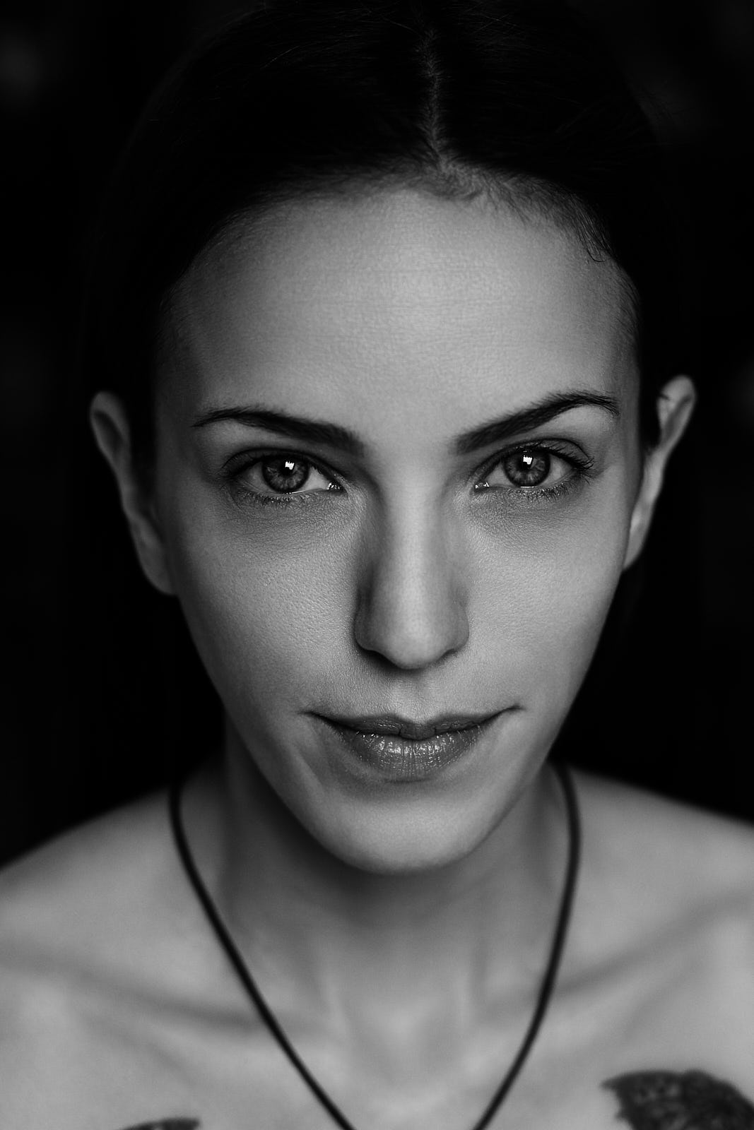 Portrait monochrome von Model Mara